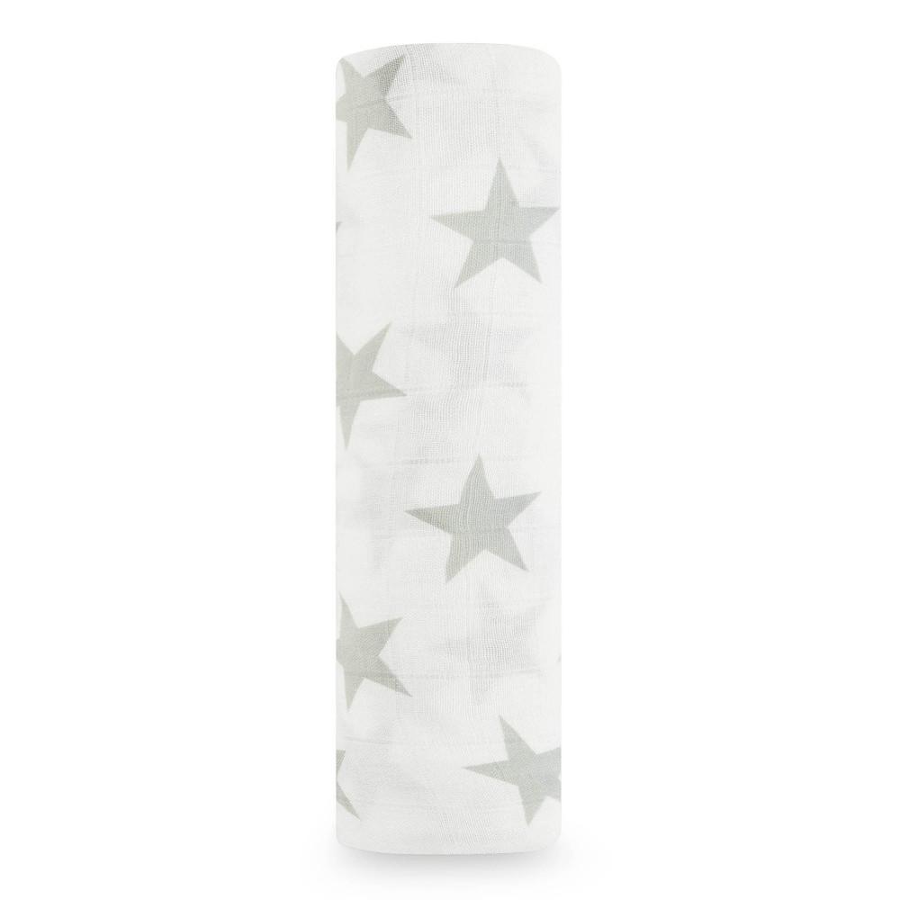 "Muslīna autiņš Silky Soft 120x120 cm ""milky way - silver star"""