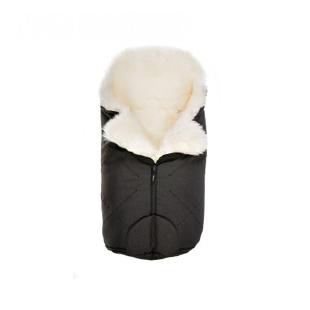 Aitas vilnas guļammaiss ratiem Bozz black melange/white, 72 cm