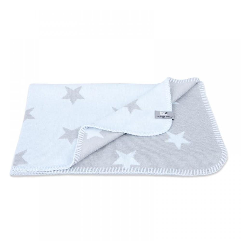"""Plēds Baby's Only """"Stars blue/grey"""" 70 x 95 cm"""