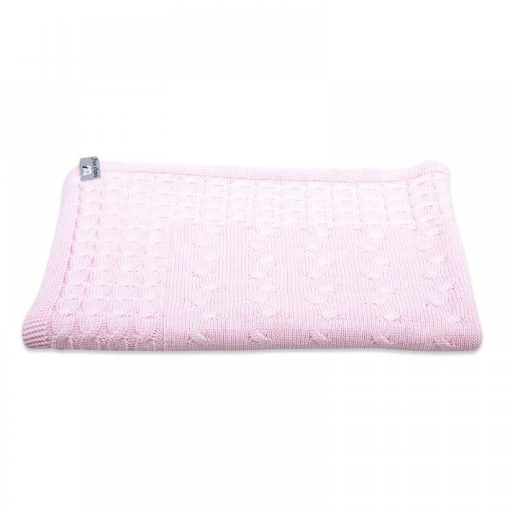 """Plēds Baby's Only """"Cable baby pink"""" 100x135 cm"""