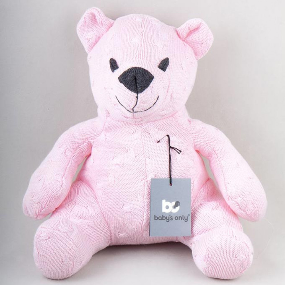 """Mīksts lācītis Baby's Only """"Cable baby pink"""" 35 cm"""