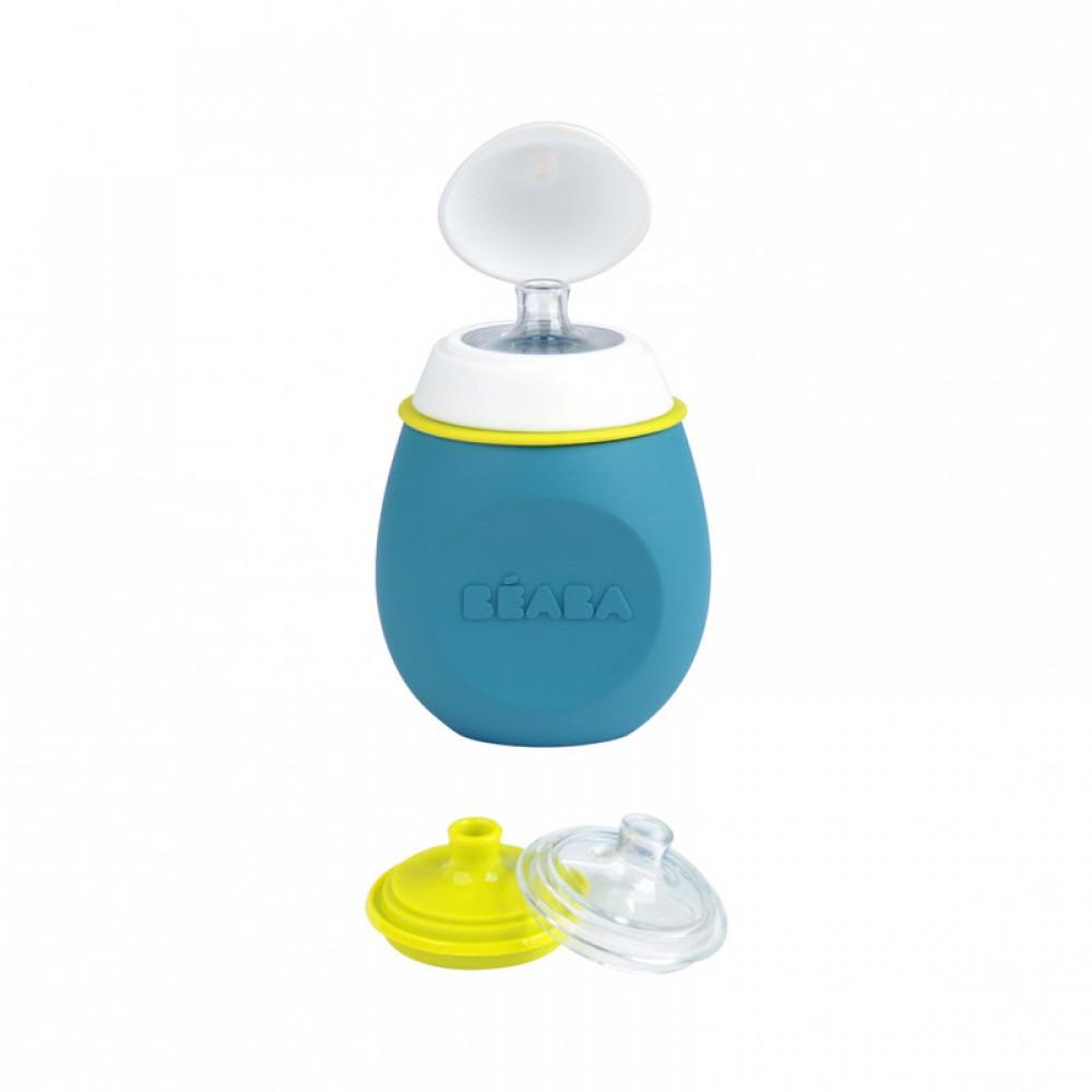 Silikona konteineru komlekts BabySqueez 2 in 1 & Squeez'Portion 180 ml BLUE