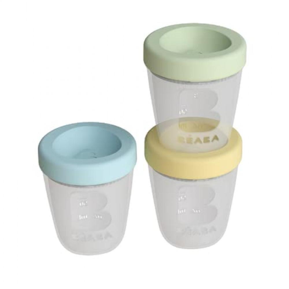 Pārtikas silikona uzglabāšanas konteineri Beaba 3 gab. , SPRING