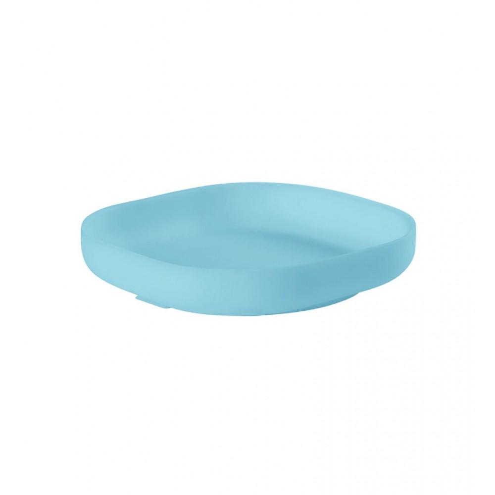 Silikona šķīvis ar piesūcekni BLUE