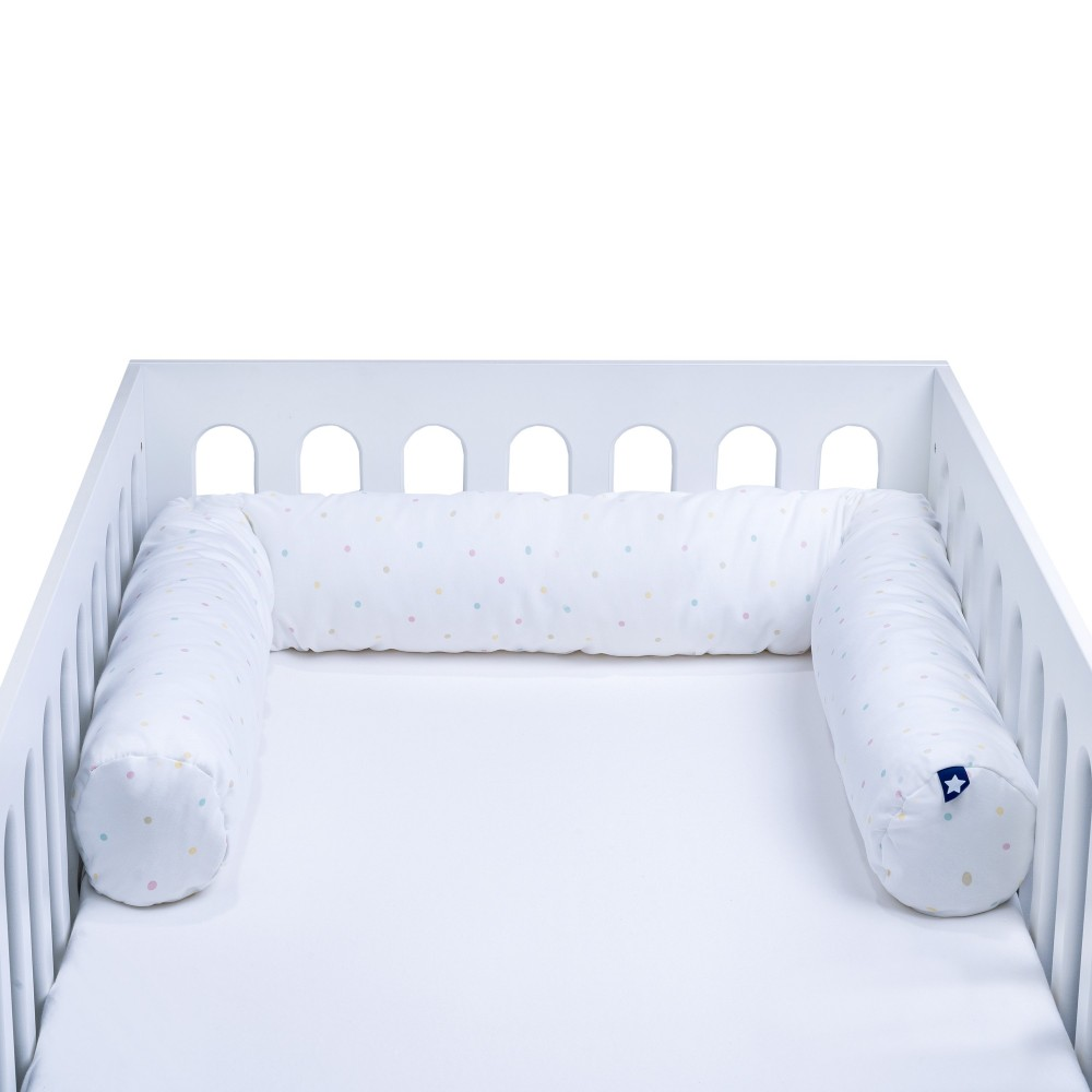 """Bērnu gultiņā ielokāma apmale """"Colour Dots"""""""