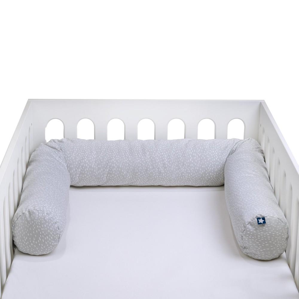"""Bērnu gultiņā ielokāma apmale """"Jersey Tiny Squares grey"""""""