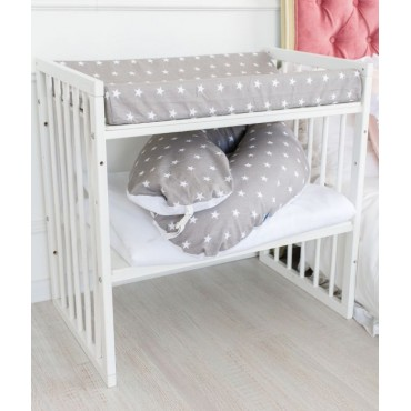 """Pārtīšanas matracītis Comfort Baby """"Grey with white stars"""""""