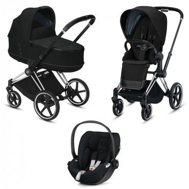 CybexPriam 3 vienā: Rāmis Chrome black/brown + Deep black