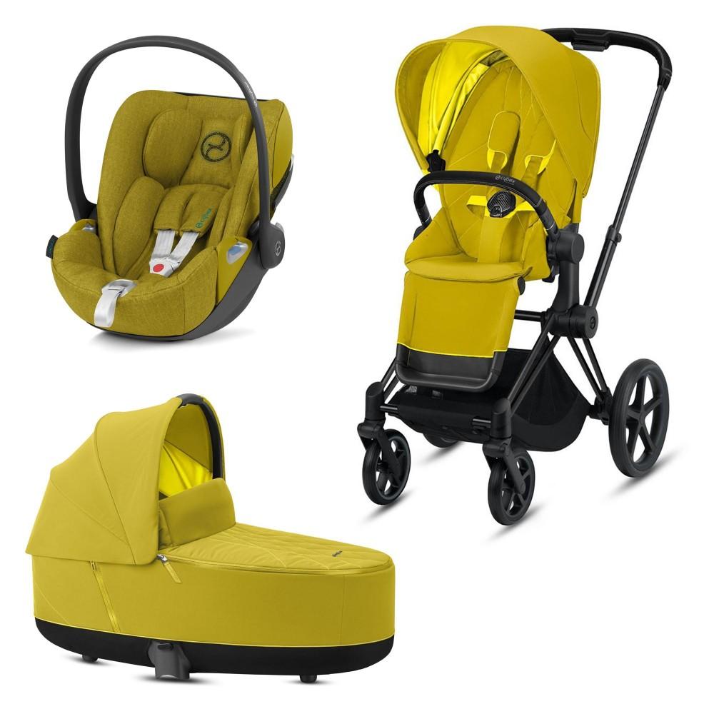 CybexPriam 3 vienā: Rāmis Matt black + Mustard yellow