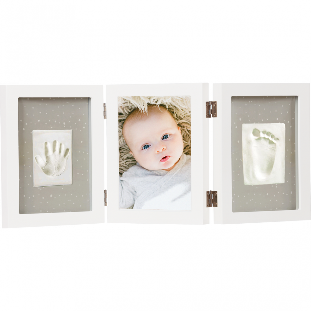 Rāmītis ar mazuļa nospiedumiem Happy Hands Triple frame kit White