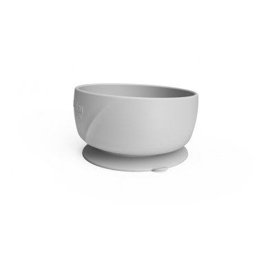 Silikona bļodiņa ar piesūcekni Quiet grey