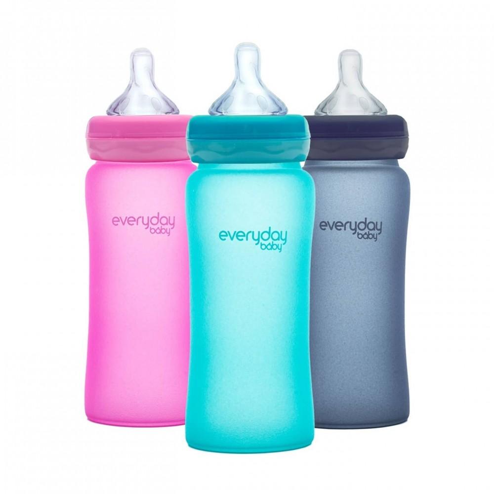 "Stikla pudelīte ""Heat Sensing"" Everyday Baby 240 ml"