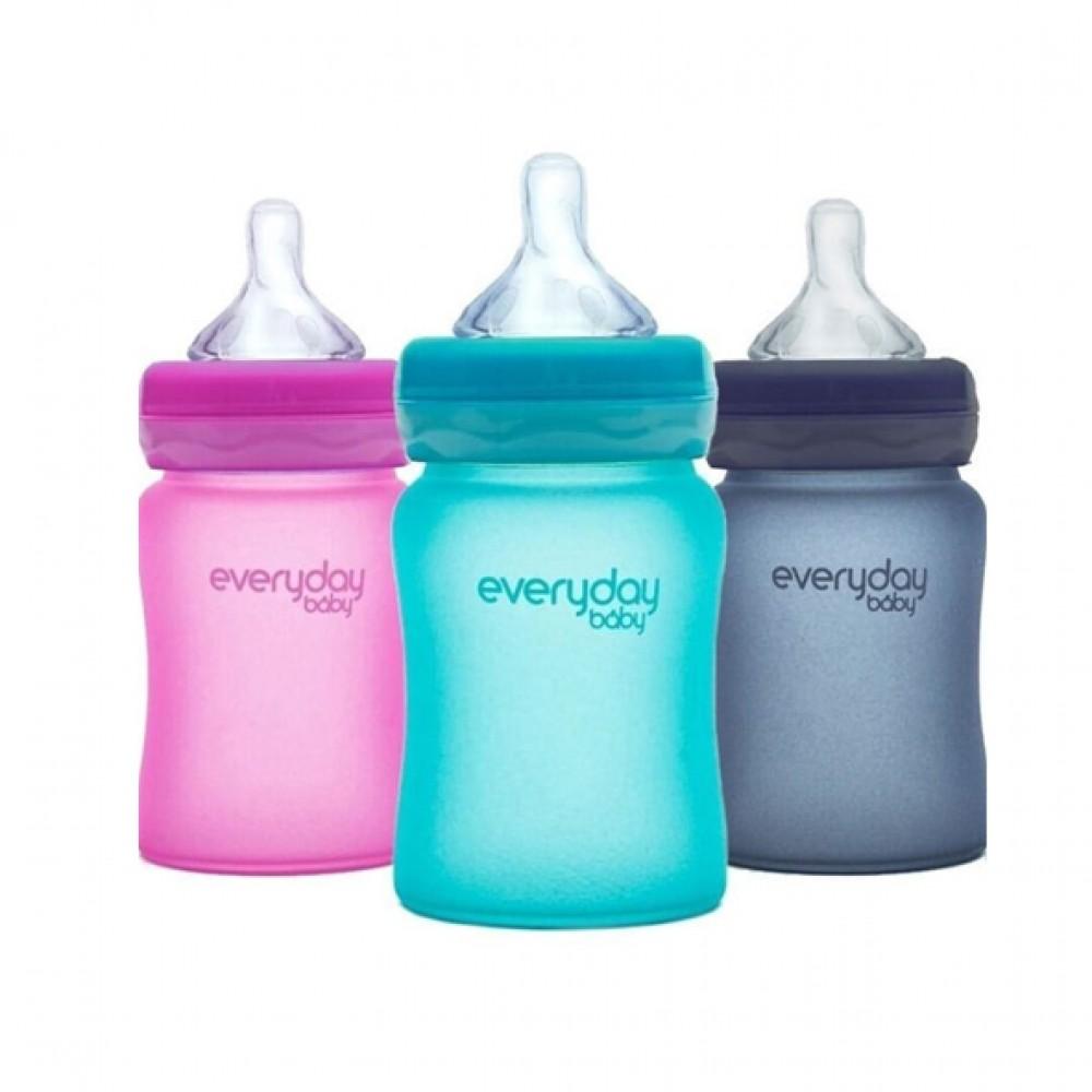"Stikla pudelīte ""Heat Sensing"" Everyday Baby 150 ml"