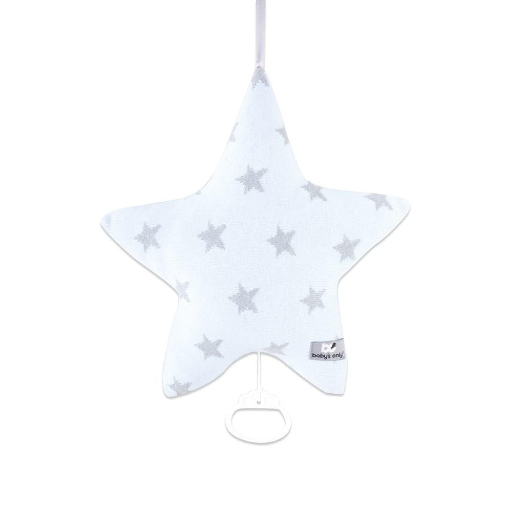Music box Star baby blue/grey