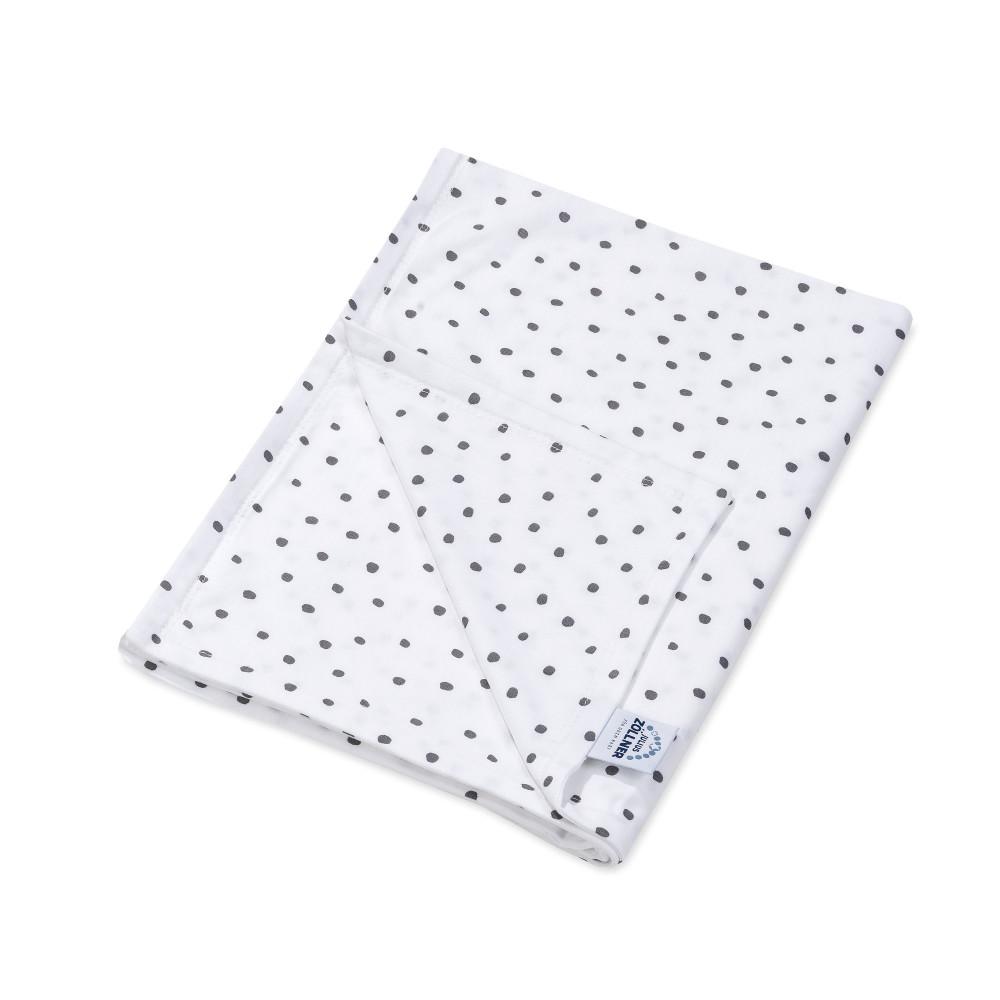 """Kokvilnas sedziņa ar pildījumu Jersey """"Dots grey"""" 70/100 cm"""