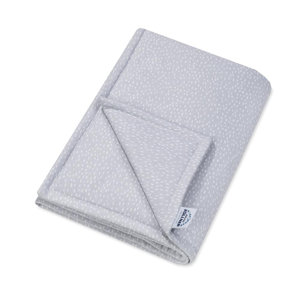 """Kokvilnas sedziņa ar Jersey pildījumu Jersey """"Tiny squares grey"""" 70/100 cm"""