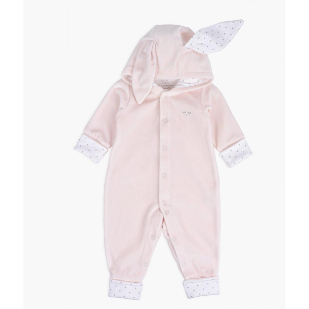 """Plīša kombinezons Livly """"Plush Bunny Overall"""" pink"""