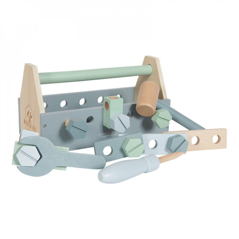 Koka rīku komplekts (Wooden toolbox) Little Dutch