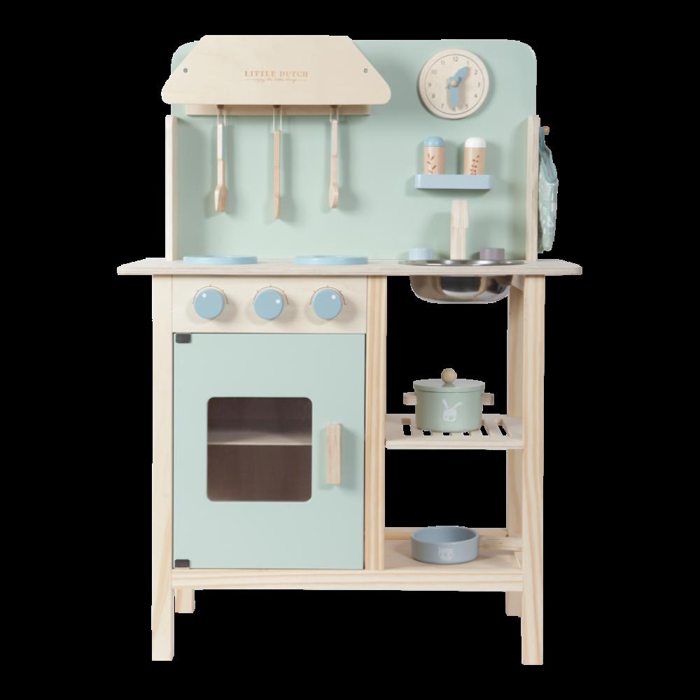 Koka rotaļu virtuve (mint) Little Dutch