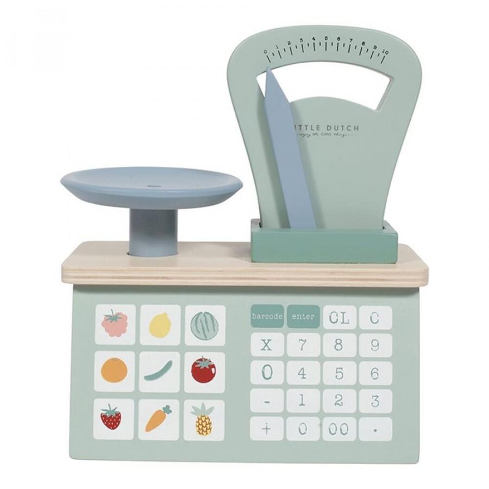 "Bērnu rotaļlietu virtuves svari Little Dutch ""Wooden weighing scales"""