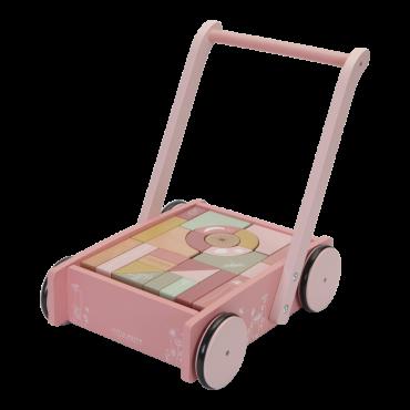 Bērnu staigulis Block Trolley Flowers