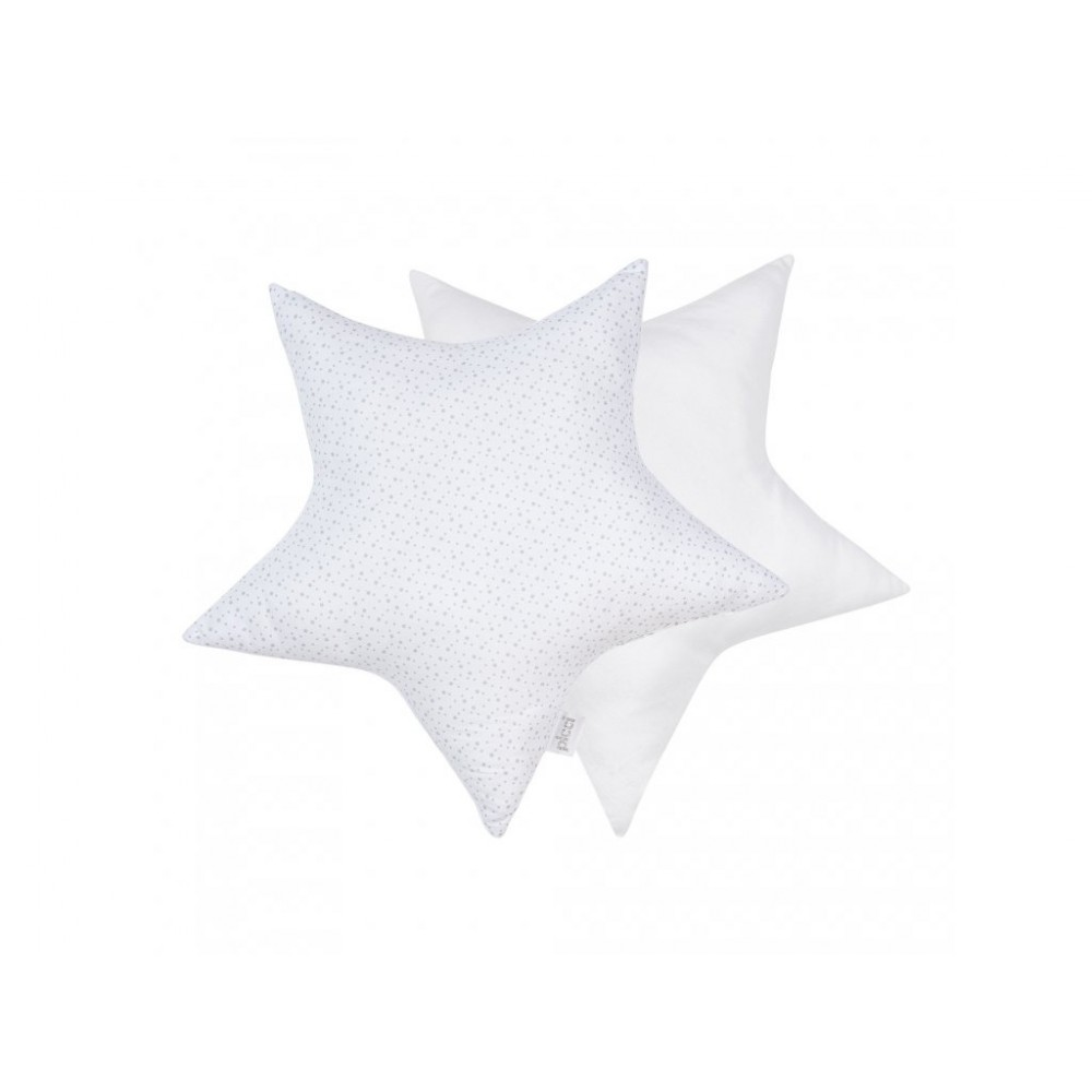 Dekoratīvie spilvēni-zvaigznītes 2 gab., white/grey
