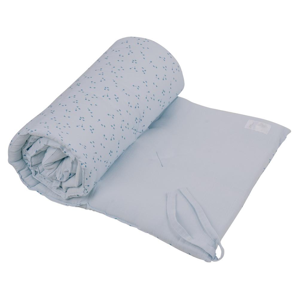 "Mīkstās apmales bērnu gultiņai Dili Best ""Natural"" dusty blue"