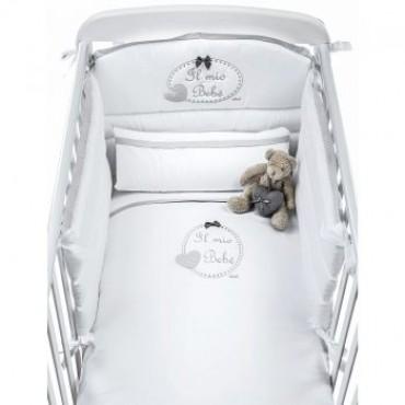 Gultas veļas komplekts CHEESECAKE white/grey