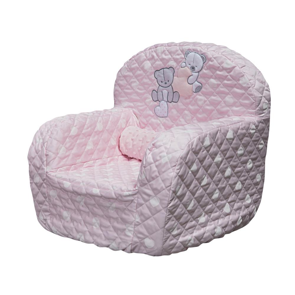 """Mīksts bērnu krēsliņš Picci """"Amelie"""" pink"""