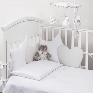 Spilvēns-maliņa Nanny white/grey