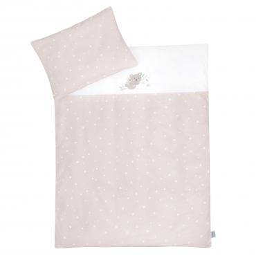"Gultas veļas komplekts CLASSIC ""KOALA (STAR BEIGE)"" 100x135 + 40x60 cm"