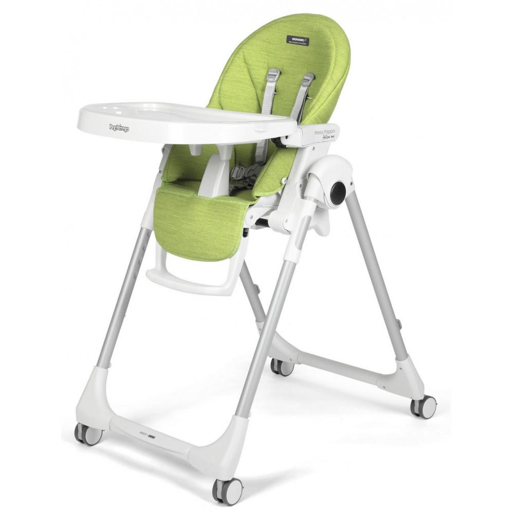 """Barošanas krēsls """"Peg Perego Prima Pappa Follow Me""""  (Wonder green)"""