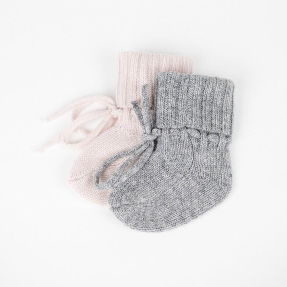 Kašmira mazuļu zeķītes, Grey melange