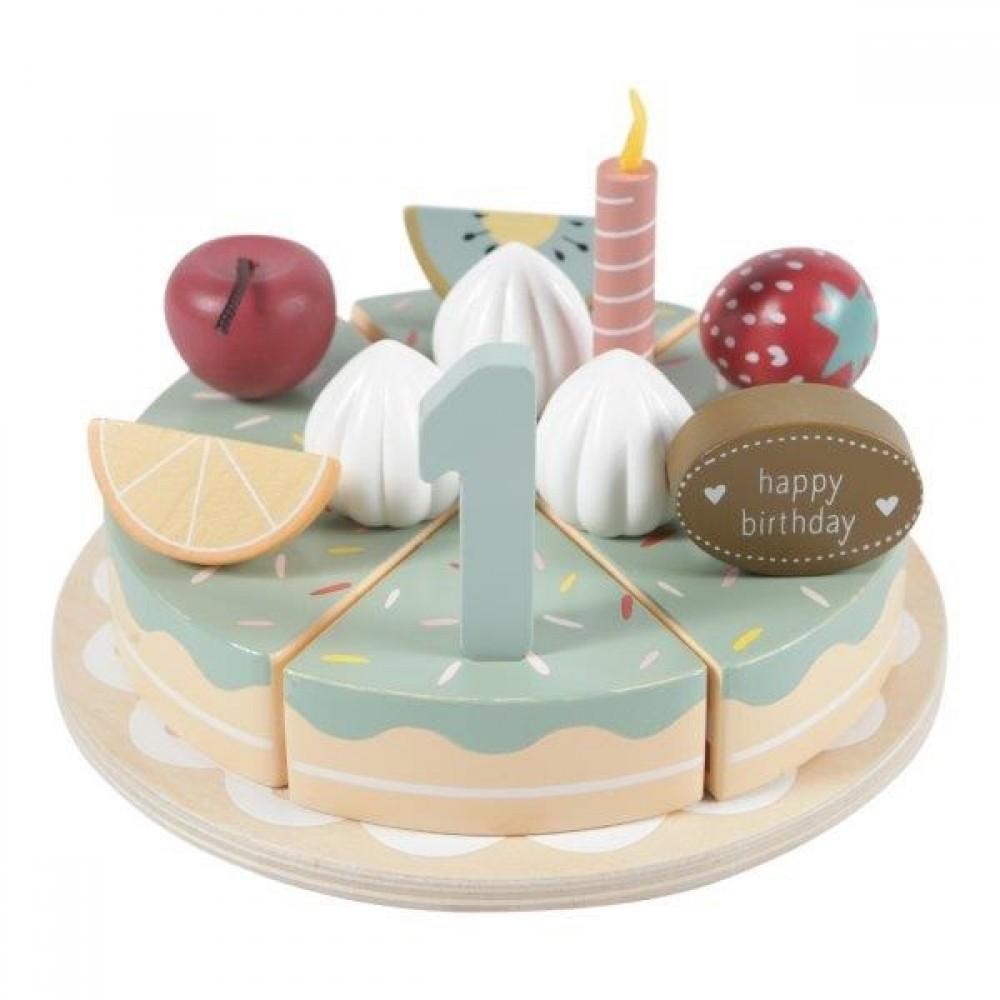 Wooden birthday cake XL - 24 pcs. Little Dutch